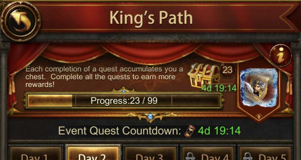 """""""King's Path"""" event"""