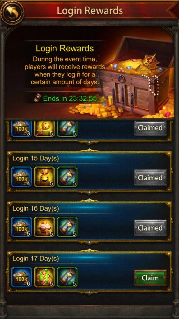 Login Reward Event