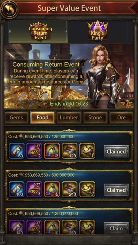 Consuming Return Event - Resource Consumption