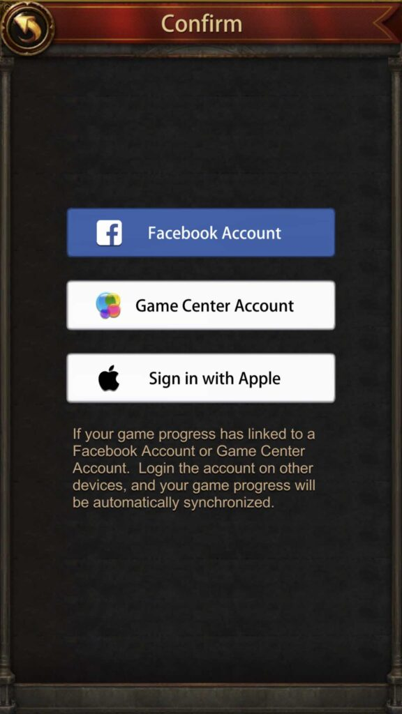"""""""Switch Account"""" screen for iPhone/iPad"""