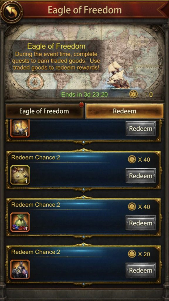 Trade Products Event (Eagle of Freedom)