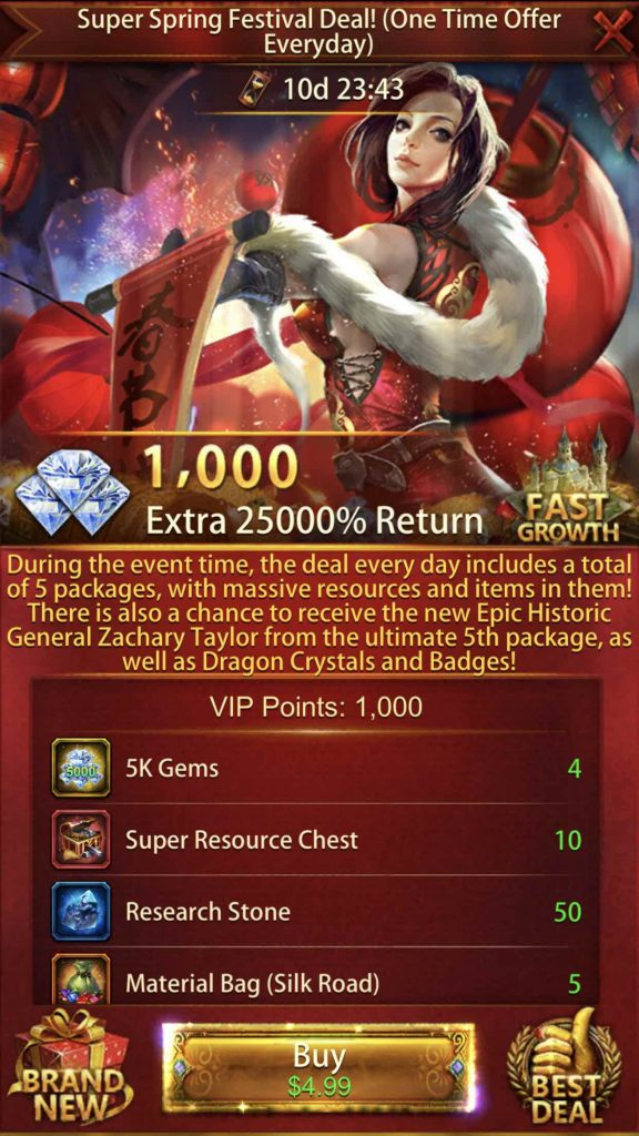 25000% Return Event Package 1st Pack $4.99