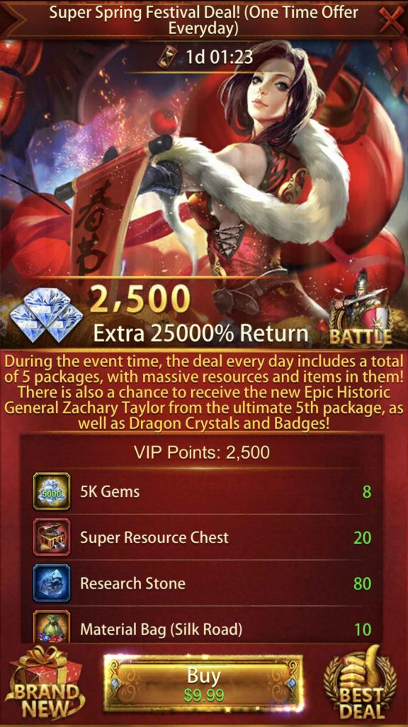 25000% Return Event Package 2nd Pack $9.99
