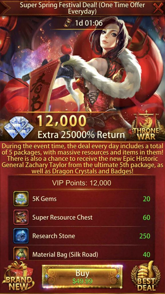25000% Return Event Package 4th Pack $49.99