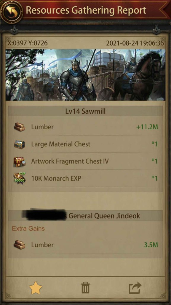 Gathering Report for 7M Resource Tile